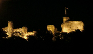 Floodlit castle